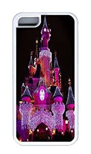 The Purple Light Castles Custom TPU White iPhone 5C Case and Cover