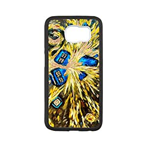 Custom Dr Who Tardis Police Call Box Painting Protective Skin Case for Samsung Galaxy S6
