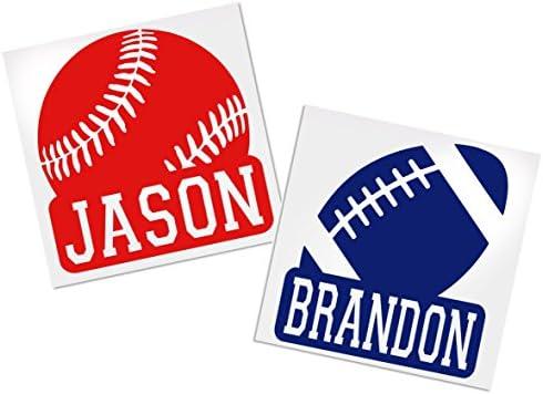 Baseball Football Basketball Decals ADavis product image