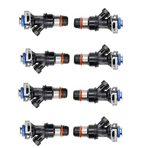 8 PCS Fuel Injectors For Chevrolet Silverado Express GMC Savana Sierra 1500 2500 3500 Cadillac 4.8L 5.3L 6.0L 17113698 17113553 FJ10062