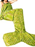 FEESHOW Mermaid Tail Blanket H