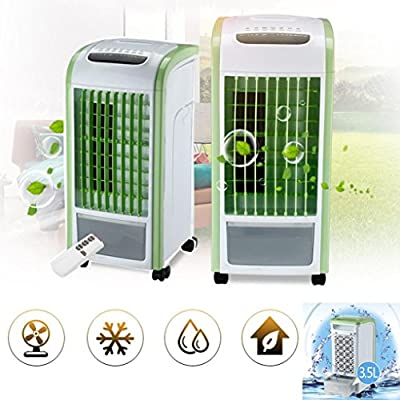 WensLTD Portable Air Conditioner, 4 in 1 Air Cooler Green With Remote Control Fan Humidifier and Air Freshener