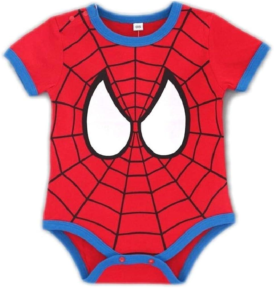 Baby Boy Girl Spiderman Halloween Costume Onesie Romper
