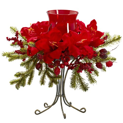 Amaryllis Candelabrum Make your holiday d¨¦cor dance with this festive Amaryllis Candelabrum by Generic