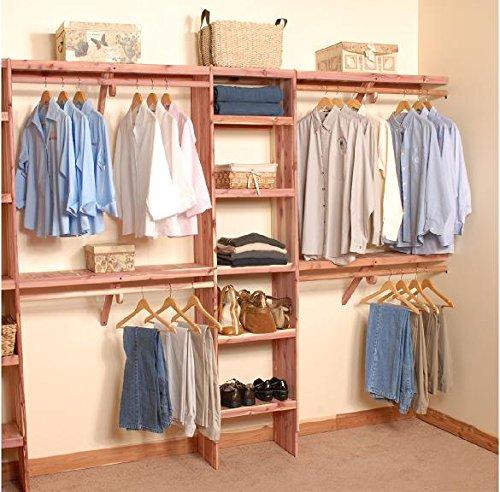 Northern Kentucky Cedar DSSWK0612 Aromatic Red Cedar 6 ft. Deluxe Solid Wall - Closet Deluxe Organizer