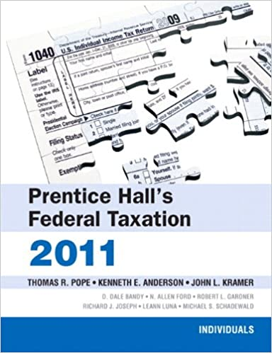 Prentice Hall's Federal Taxation: 2011: Individuals