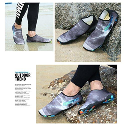 Plage Skin Barefoot Fonc Pour Saguaro Yoga Water De Gris Chaussettes Baskets Aquatiques OqF87wxWp