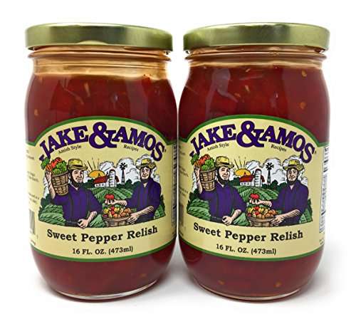 Jake & Amos Sweet Pepper Relish / 2 - 16 Oz. Jars
