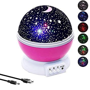 Amazon.com: Bebé luz de noche proyector de estrellas ...