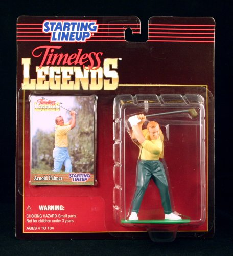 Gary Player Pga (ARNOLD PALMER / PGA 1996 TIMELESS LEGENDS Kenner Starting Lineup & Exclusive Collector Trading Card by Starting Line Up)