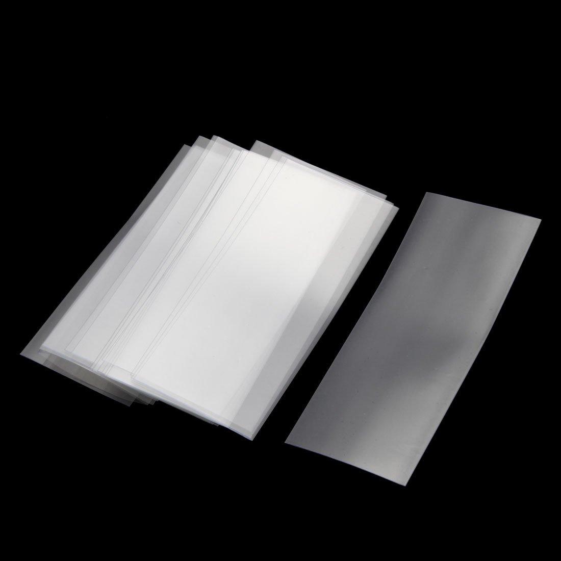 Black sourcingmap PVC Heat Shrink Tubing 29.5mm Flat Width Pre Cut Heat Shrink Wrap Tube for 18650 72mm Length Pack of 20