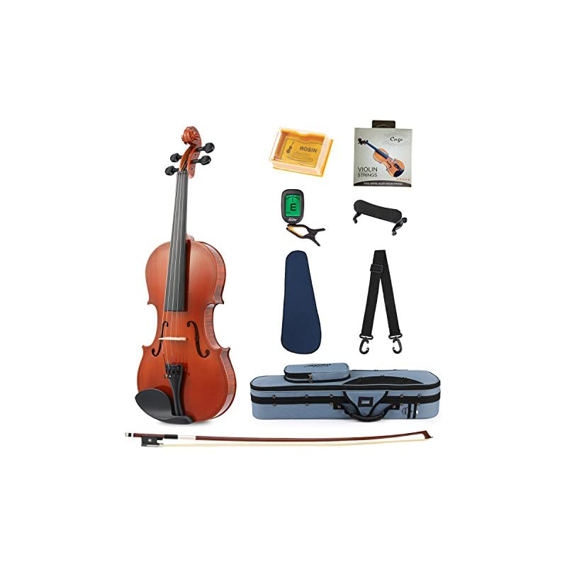 Eastar EVA-1 Full-Size 4/4 Violin Set Fo