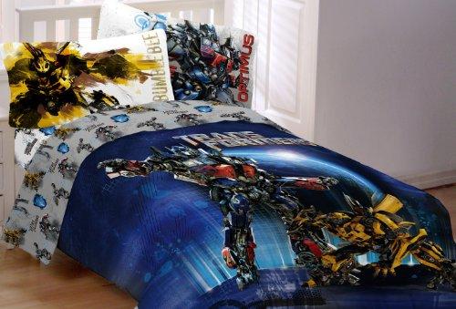 Awesome Hasbro Transformer 3 Armada Twin/Full Comforter, Multi