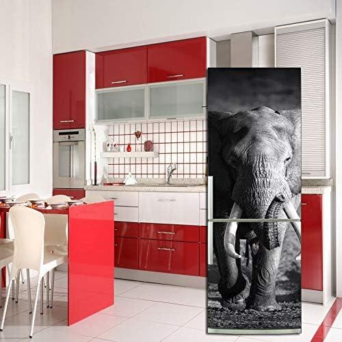 XIAOMAN Pegatinas de Nevera de Cocina Elefante HD Refrigerador Puerta Wrap Cover Extra/íble Autoadhesivo DIY Art Decal Color : 1, Size : 60 * 150cm