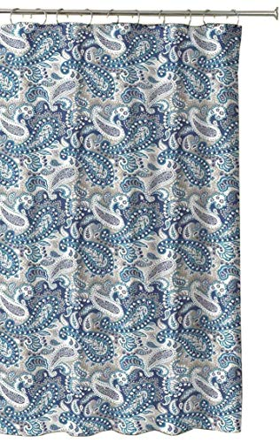Marine Blue Taupe Beige White Decorative Fabric Shower for sale  Delivered anywhere in USA