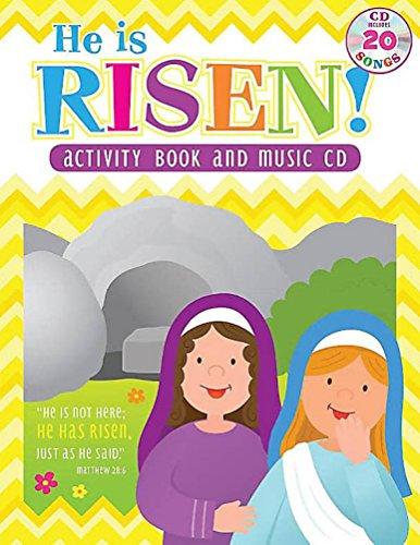 He Is Risen! Children Activity Book & Music CD with Lyrics