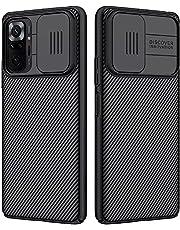 For Xiaomi Redmi Note 10 Pro Nillkin CamShield Pro Hybrid Tpu Bumper PC Slide Cover Camera Lens Protection Phone Case-Black