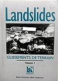 Landslides (Glissements de Terrain) : Proceedings of the 7th International Symposium, Trondheim, Norway, 17-21 June 1996, , 9054108185