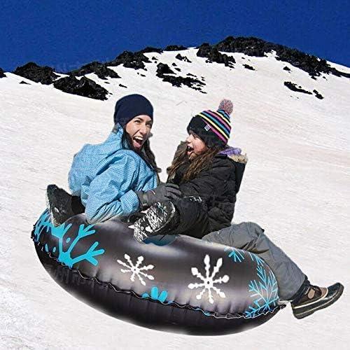 f/ür Kinder und Erwachsene Doppel-Typ leicht zu greifende Griffe blau LilouGG Schneeschuhe f/ür Winterspa/ß robuste Schlitten robust 120 cm aufblasbar