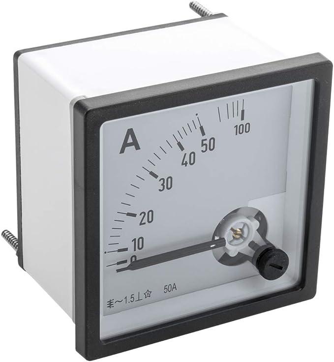 BeMatik - Medidor eléctrico analógico de Panel Cuadrado 72x72mm 100A 50A amperímetro