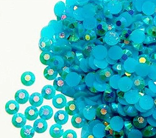 "100% Custom Made (5mm) 1000 Bulk Pieces of Mini Size ""Glue-On"" Flatback Embellishments for Decorating, Made of Acrylic Resin w/ Shiny Iridescent Crafting Rhinestone Crystal Darkened Teal Style {Blue}"
