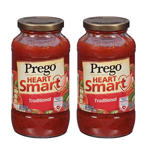 (Prego Heart Smart Italian Sauce 23.5oz Jar (Pack of 4) Choose Flavor Below (Traditional))