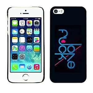 """For Apple iPhone 5 / 5S , S-type Mensaje Amor divertido de la tipografía"""" - Arte & diseño plástico duro Fundas Cover Cubre Hard Case Cover"""