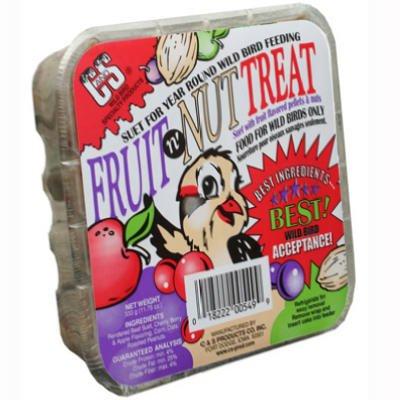C & S Products 12549 Suet Cake, Fruit 'N Nut Treat, 11.75-oz. - Quantity 12