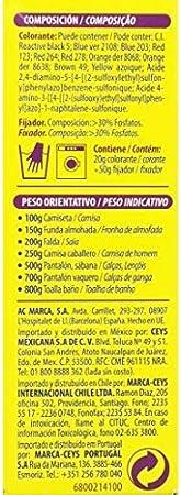Iberia - Tinte Naranja para ropa, 40°C: Amazon.es: Belleza
