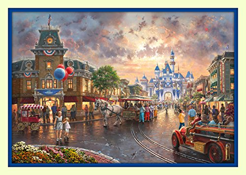 Disneyland 60th Anniversay 11x14 Double Matted 8x12 Premium Giclee Print Walt Disney Collection Castle Magic Kingdom - Disney Walt Posters World