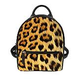 Instantarts Leopard Print Women Travel Mini Backpack Purse Girls School Little Shoulder Bag