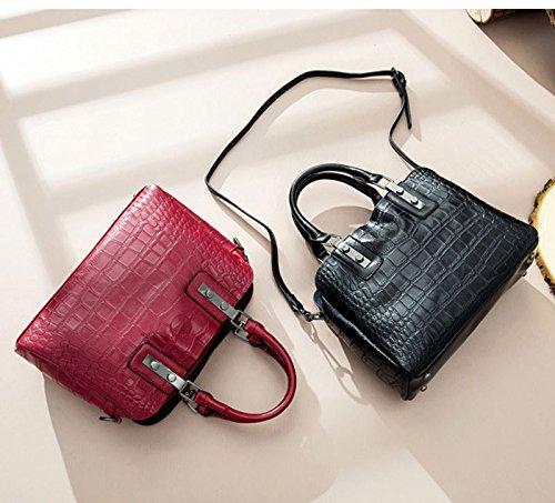 Tracolla colore Red Pelle Da Messenger A Viaggio In Ghmm Donna Brown Borsa Bag xHvgq7wIY