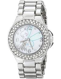 Women's TK2031 Tinkerbell Mother-of-Pearl Dial Silver-Tone Bracelet Watch
