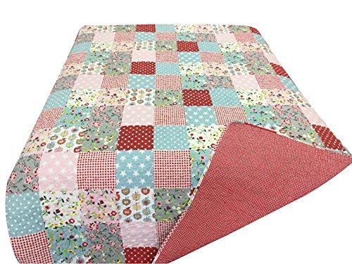 Krasilnikoff Decke/Quilt Patchwork red/rot 130*180 cm
