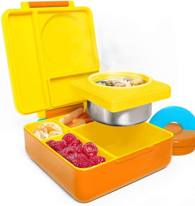 Includes... Leak-Proof 3-Compartment Bento Lunch Box For Kids OmieBox