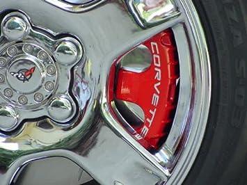 American Car - Chevrolet Corvette 1997 1998 1999 2000 2001 2002 2003 2004 cromado rueda Pinza de freno Covers mostrar coche llantas: Amazon.es: Coche y moto