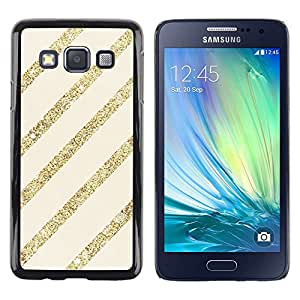 LECELL--Funda protectora / Cubierta / Piel For Samsung Galaxy A3 SM-A300 -- Gold Beige Pattern Bling Christmas --