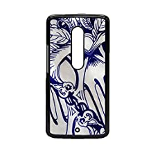 For Moto X Play With Blue And White Porcelain 3 Women Cases Unique Plastics