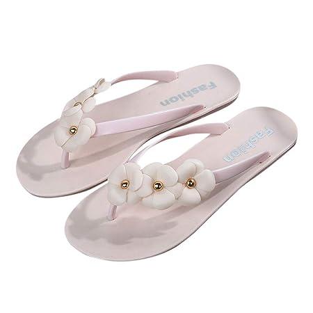 a8405f72fbc3 Mentin Summer Girl Women Slippers Beach Flip Flops Flat Heel Flowers Sandals  Casual New  Amazon.co.uk  Kitchen   Home