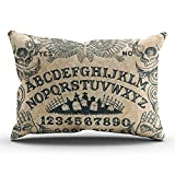 KEIBIKE Personalized Ouija Board Horror Movie Rectangle Decorative Pillowcases Funny Zippered King Pillow Covers Cases 20x36 Inches One Sided