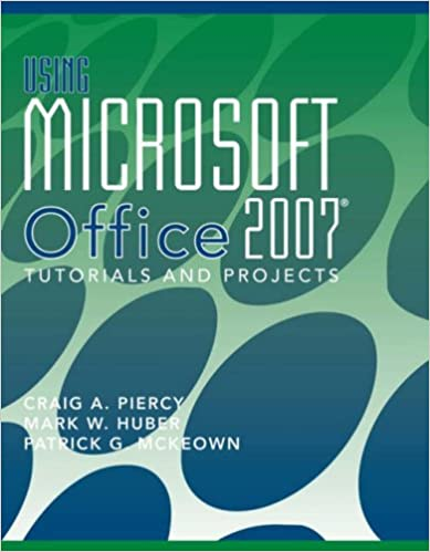 Ms Office 2007 Tutorial Book