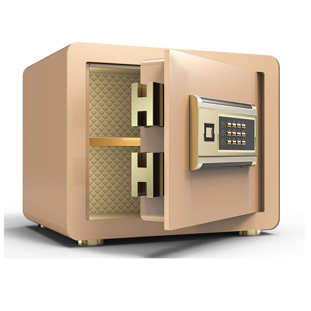 Boxes & Organisers Digital Electronic Safe New Explosion-Proof Lock Bolt Fire Anti-Theft Password 350250250mm Wall Mount Gold (Color : B)