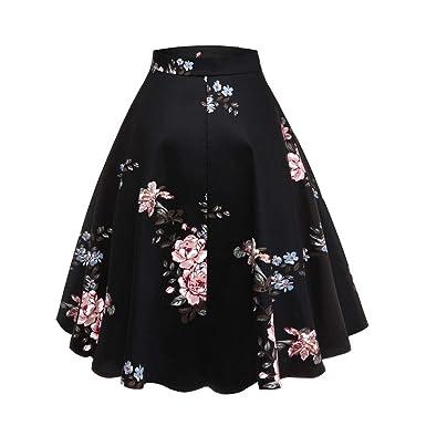 Slyar Falda Estampada Vintage De Las Mujeres Vestidos Mujer Fiesta ...