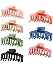 Vigorpace 7 PCS Hair Claw Clips - Nonslip Large Hair Claw Clips for Thick Hair, Strong Hold Hair Accessories Clips for Women Girls
