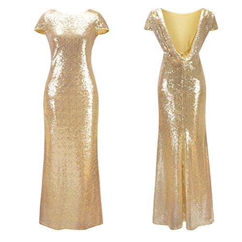 Long Designer Gold Cerimonia Zhhlaixing Backless Donna Casual Dresses Elegante Summer Maxi Vestiti Evening Slim For Women 7xRn67