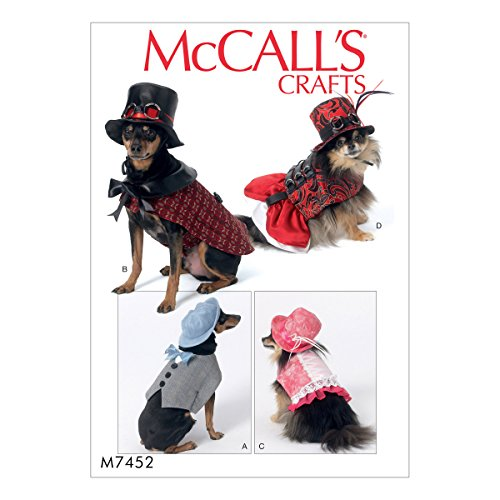 MCCALLS M7452 Steampunk Pet Costumes FOR DOGS with Hats SEWING PATTERN