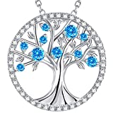 Valentine's Day Jewelry Gift The Tree of Life Necklace Sterling Silver Jewelry Birthday Anniversary Gift for her