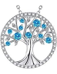 Christmas Gift Tree of Life November Birthstone Necklace...
