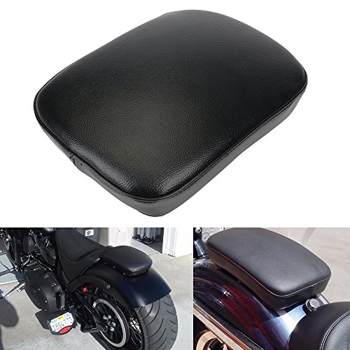 Universal 8 Suction Cup Rectangular Pillion Passenger Pad Seat For Harley Sportster 883 1200 XL 48 72 Fatboy Dyna Softail Chopper Bobber Custom Cafer V-ROD Street Bob Touring Road King Indian