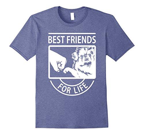 Mens Pekingese Best Friend For Life T-shirt Large Heather Blue